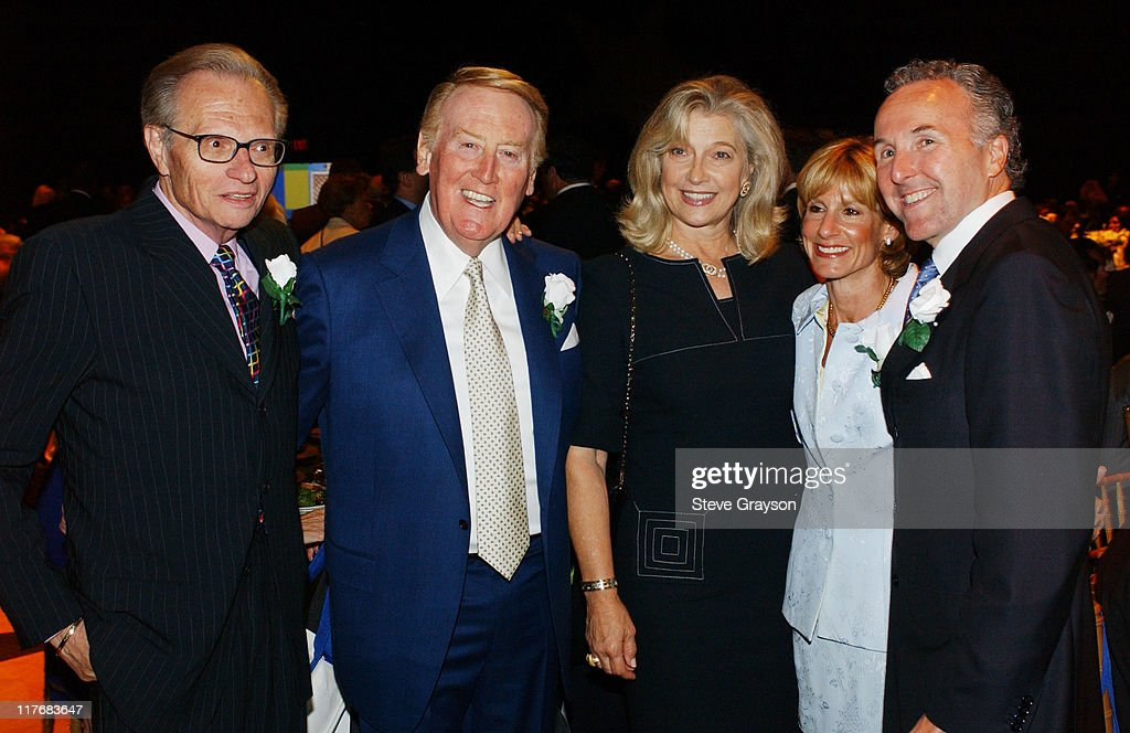 Larry King Vin Scully wife Sandra Hunt Jamie McCourt and Frank McCourt