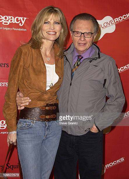 Larry King Wife during First Annual Entertainment Industry Foundation 'Love Rocks' Concert to Honor U2's Bono and Launch EIF'S National...