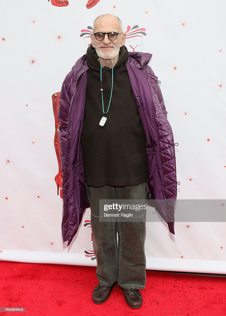 <a gi-track='captionPersonalityLinkClicked' href=/galleries/search?phrase=Larry+Kramer&family=editorial&specificpeople=224871 ng-click='$event.stopPropagation()'>Larry Kramer</a> attends Media Opening for Kinky Boots on Broadway at the Al Hirschfeld Theatre on April 4, 2013 in New York City.