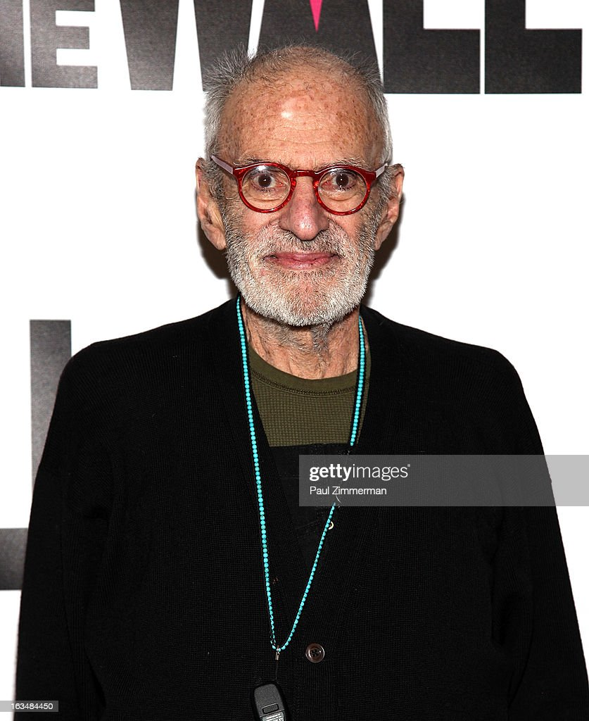 <a gi-track='captionPersonalityLinkClicked' href=/galleries/search?phrase=Larry+Kramer&family=editorial&specificpeople=224871 ng-click='$event.stopPropagation()'>Larry Kramer</a> attends the 'Hit The Wall' Off Broadway opening night at the Barrow Street Theatre on March 10, 2013 in New York City.