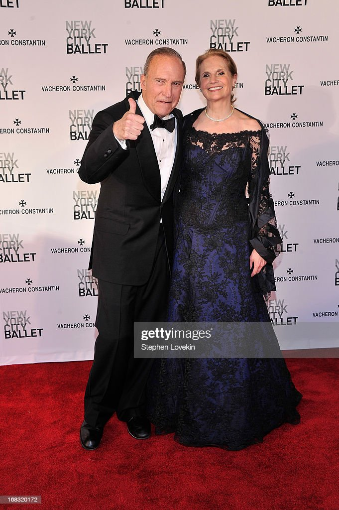 Larry Kudlow, and his wife Judith attend New York City Ballet's Spring 2013 Gala at David H. Koch Theater, Lincoln Center on May 8, 2013 in New York City.