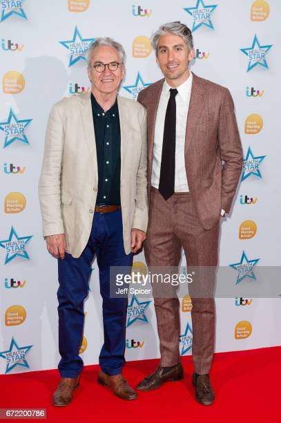 Larry Lamb and George Lamb attend the Good Morning Britain Health Star Awards at the Rosewood Hotel on April 24 2017 in London United Kingdom