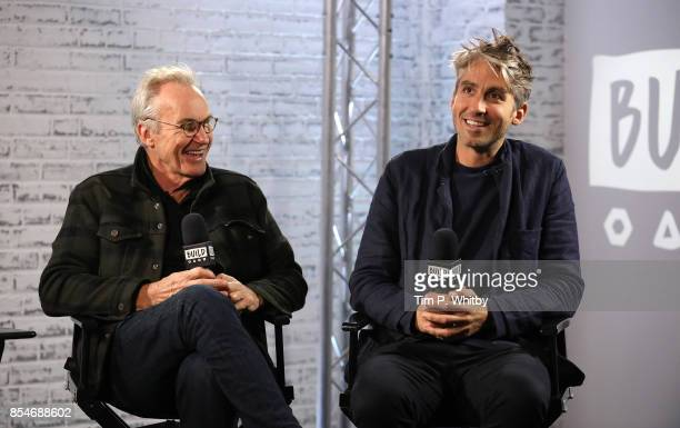 Larry Lamb and George Lamb discussing their new television programme 'Britain by Bike with Larry and George Lamb' during a BUILD LND event at AOL on...