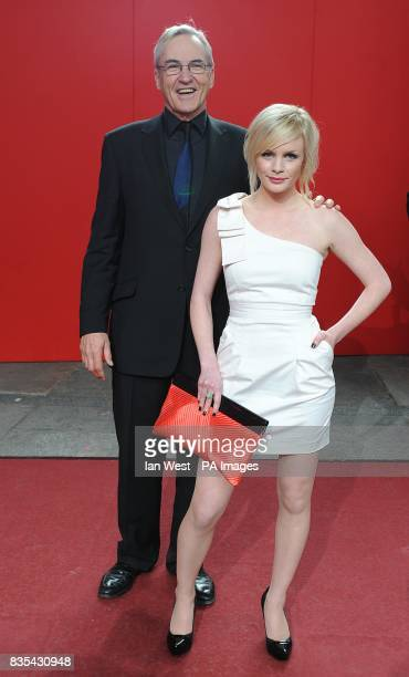 Larry Lamb and Lauren Crace arriving for the 2009 British Soap Awards at the BBC Television Centre Wood Lane London