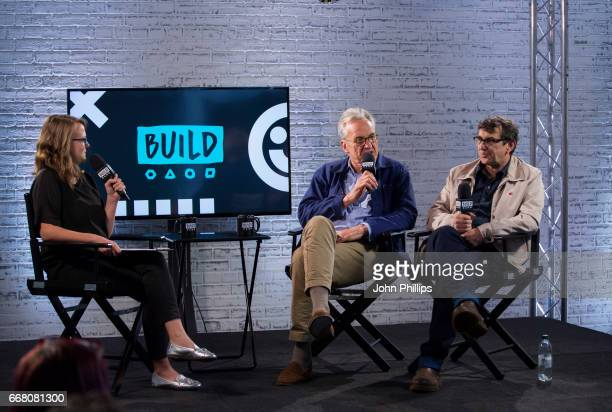 Larry Lamb and Phil Daniels speak at the Build LDN event with the cast of 'The Hatton Garden Job' on April 13 2017 in London United Kingdom