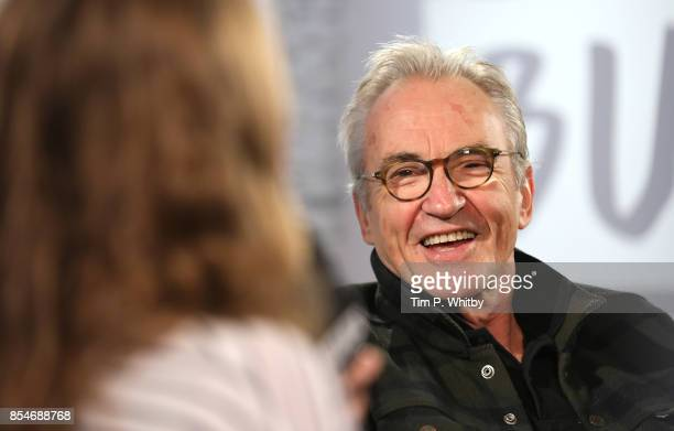 Larry Lamb discussing his new television programme 'Britain by Bike with Larry and George Lamb' during a BUILD LND event at AOL on September 27 2017...