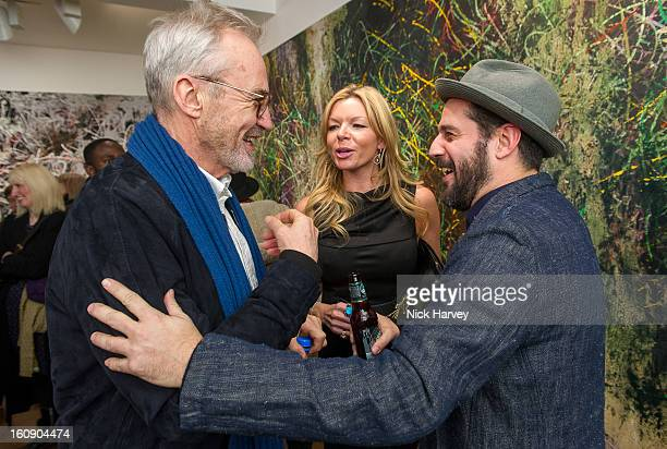 Larry Lamb Fru Tholstrup and Jose Parla attend the private view of Jose Parla Broken Language at Haunch of Venison on February 7 2013 in London...