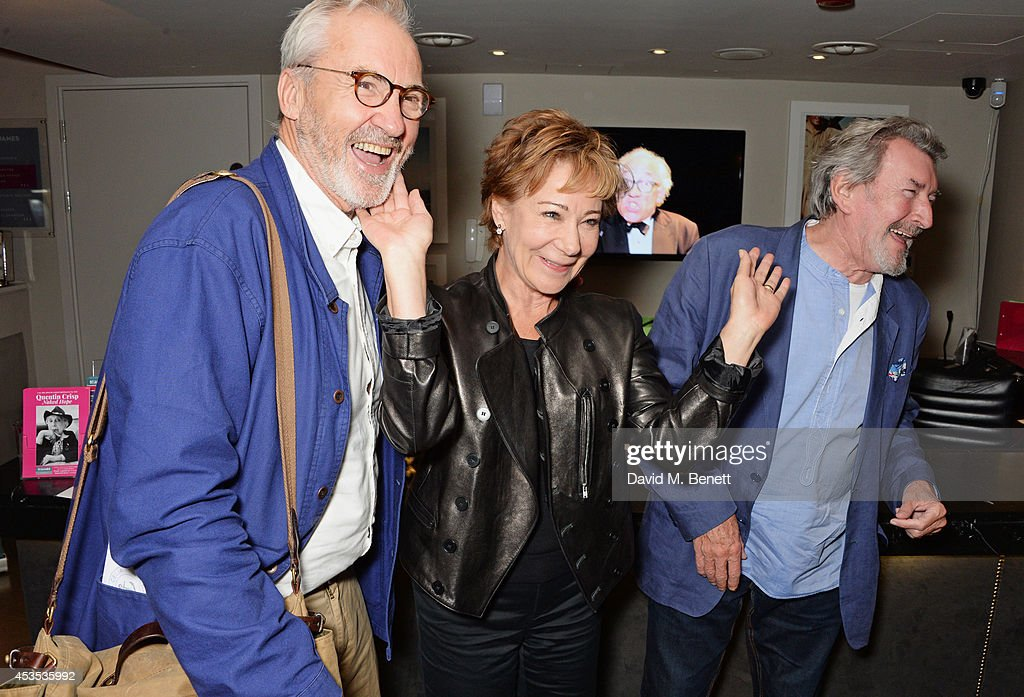 Larry Lamb, <a gi-track='captionPersonalityLinkClicked' href=/galleries/search?phrase=Zoe+Wanamaker&family=editorial&specificpeople=224028 ng-click='$event.stopPropagation()'>Zoe Wanamaker</a> and Gawn Grainger attend an after party celebrating the press night performance of 'Celia Imrie: Laughing Matters' at the St James Theatre on August 12, 2014 in London, England.