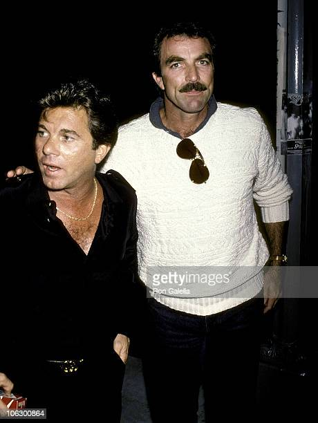 Larry Manetti and Tom Selleck during Larry Manetti and Tom Selleck at Nicky Blair's at Nicky Blair's in Hollywood California United States
