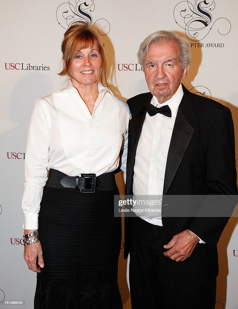 Larry McMurtry and <a gi-track='captionPersonalityLinkClicked' href=/galleries/search?phrase=Diana+Ossana&family=editorial&specificpeople=792036 ng-click='$event.stopPropagation()'>Diana Ossana</a> attends The USC Libaries Twenty-Fifth Anuual Scripter Awards at USC Campus, Doheney Library on February 9, 2013 in Los Angeles, California.