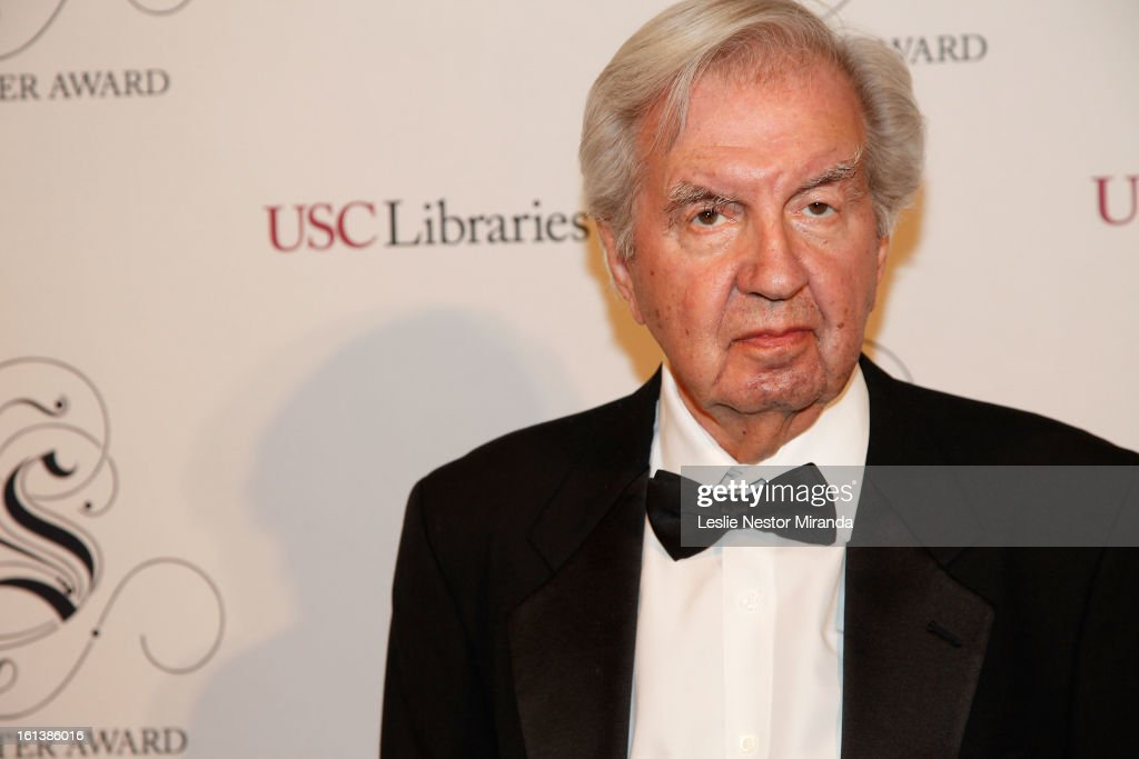 <a gi-track='captionPersonalityLinkClicked' href=/galleries/search?phrase=Larry+McMurtry&family=editorial&specificpeople=792028 ng-click='$event.stopPropagation()'>Larry McMurtry</a> attends The USC Libaries Twenty-Fifth Anuual Scripter Awards at USC Campus, Doheney Library on February 9, 2013 in Los Angeles, California.
