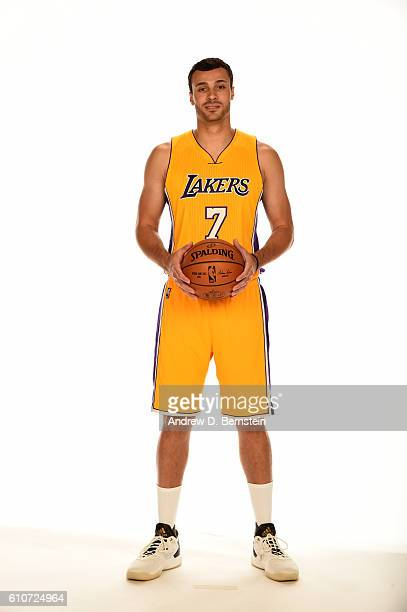 Larry Nance Jr #7 of the Los Angeles Lakers poses for a portrait during the 20162017 Los Angeles Lakers Media Day at Toyota Sports Center on...