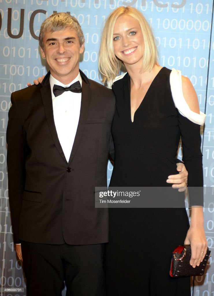 <a gi-track='captionPersonalityLinkClicked' href=/galleries/search?phrase=Larry+Page&family=editorial&specificpeople=753550 ng-click='$event.stopPropagation()'>Larry Page</a> (L) and Lucy Southworth attend the Breakthrough Prize Inaugural Ceremony at Nasa Ames Research Center on December 12, 2013 in Mountain View, California.