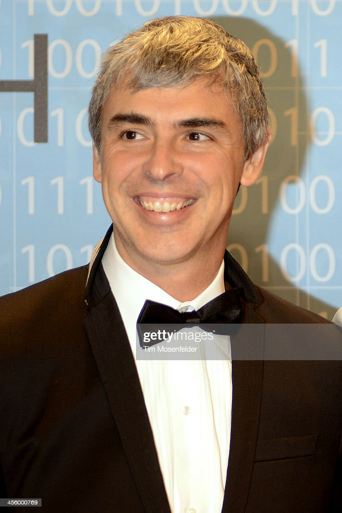 Larry Page attends the Breakthrough Prize Inaugural Ceremony at Nasa Ames Research Center on December 12, 2013 in Mountain View, California.