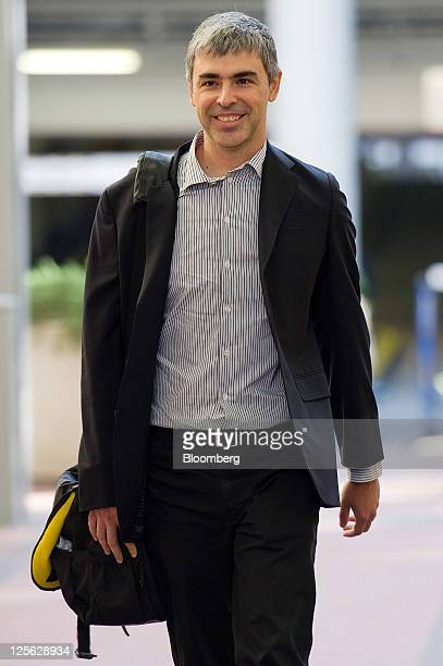 Larry Page chief executive officer of Google Inc arrives at court in San Jose California US on Monday Sept 19 2011 Google Inc and Oracle Corp chief...