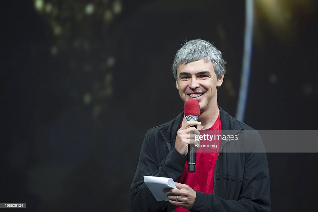 <a gi-track='captionPersonalityLinkClicked' href=/galleries/search?phrase=Larry+Page&family=editorial&specificpeople=753550 ng-click='$event.stopPropagation()'>Larry Page</a>, co-founder and chief executive officer at Google Inc., speaks during the Google I/O Annual Developers Conference in San Francisco, California, U.S., on Wednesday, May 15, 2013. Page disclosed a health condition that can result in hoarse speech and labored breathing, though according to doctors won't impede him from running the Web-search provider. Photographer: David Paul Morris/Bloomberg via Getty Images