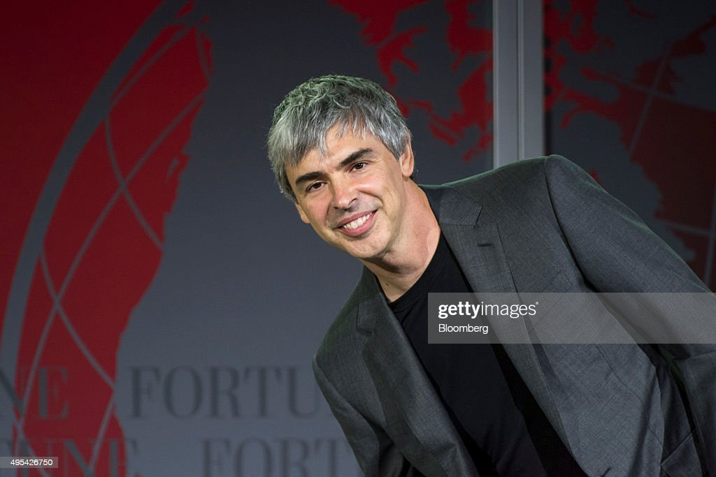 <a gi-track='captionPersonalityLinkClicked' href=/galleries/search?phrase=Larry+Page&family=editorial&specificpeople=753550 ng-click='$event.stopPropagation()'>Larry Page</a>, co-founder of Google Inc. and chief executive officer of Alphabet Inc., speaks during the 2015 Fortune Global Forum in San Francisco, California, U.S., on Monday, Nov. 2, 2015. The forum gathers Global 500 CEO's and innovators, builders, and technologists from some of the most dynamic, emerging companies all over the world to facilitate relationship building at the highest levels. Photographer: David Paul Morris/Bloomberg via Getty Images
