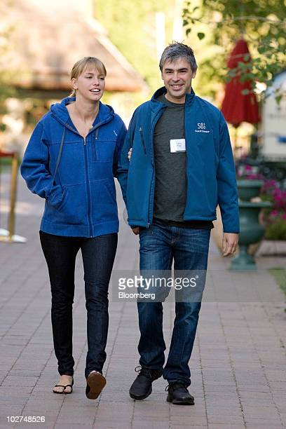 Larry Page cofounder of Google Inc arrives for morning sessions at the 28th annual Allen Co Media and Technology Conference in Sun Valley Idaho US on...