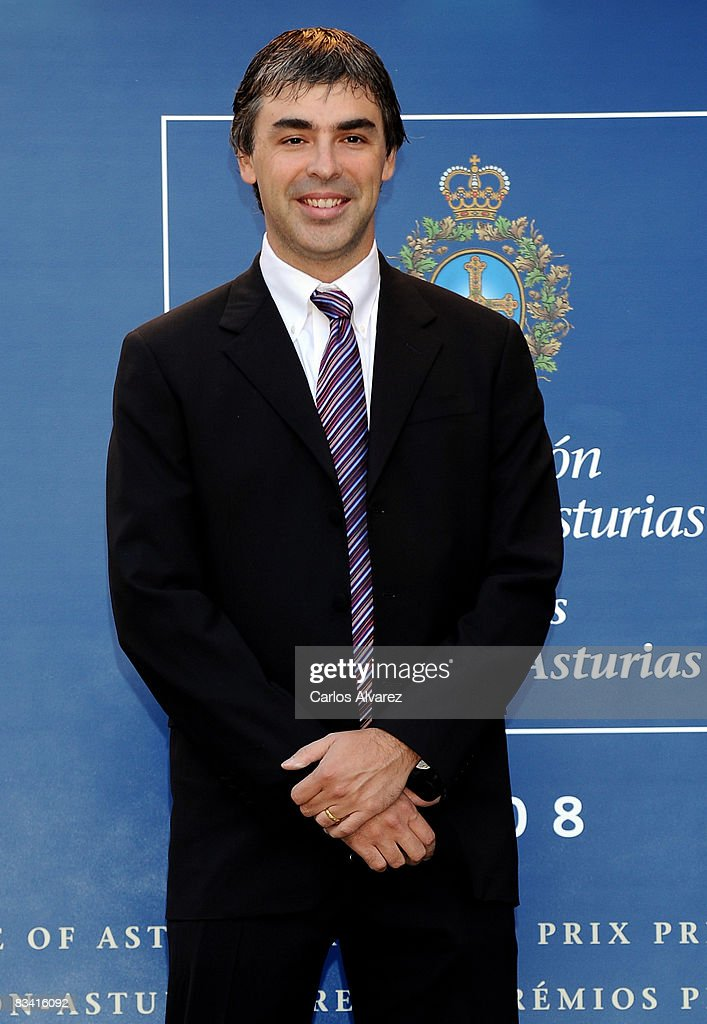 <a gi-track='captionPersonalityLinkClicked' href=/galleries/search?phrase=Larry+Page&family=editorial&specificpeople=753550 ng-click='$event.stopPropagation()'>Larry Page</a>, Founder of Google arrives at the Reconquista Hotel on October 24, 2008 in Oviedo, Spain.