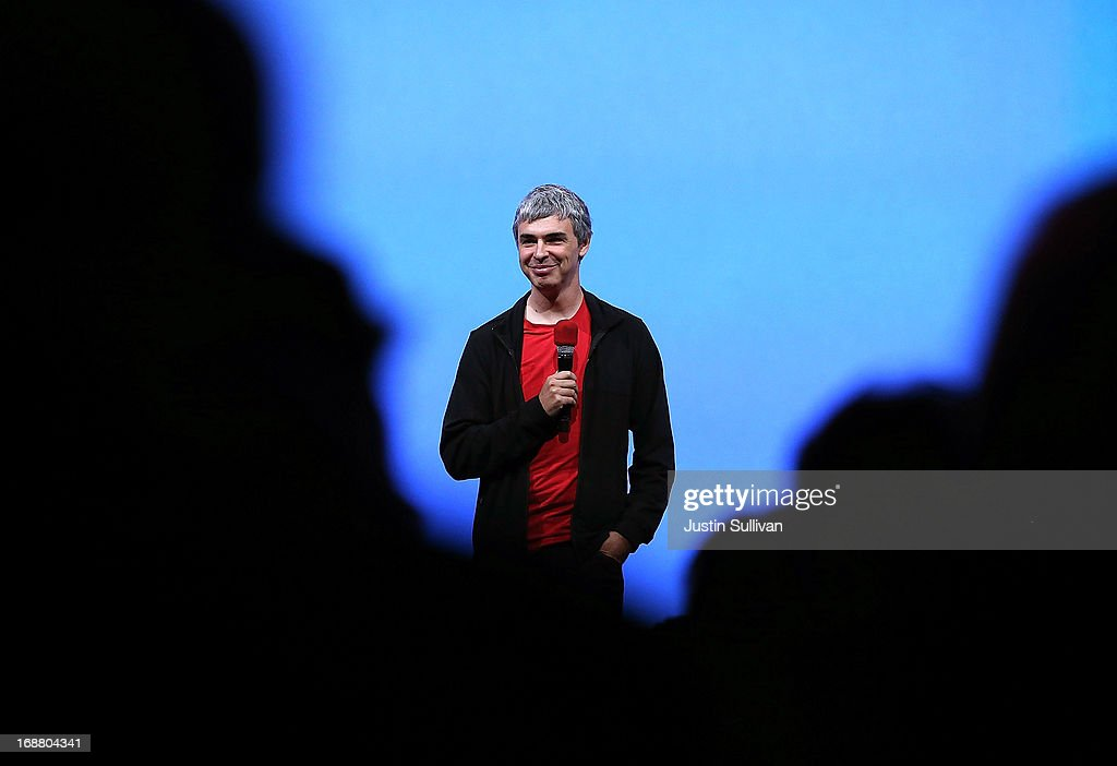 Larry Page, Google co-founder and CEO speaks during the opening keynote at the Google I/O developers conference at the Moscone Center on May 15, 2013 in San Francisco, California. Thousands are expected to attend the 2013 Google I/O developers conference that runs through May 17.