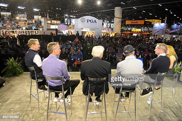 Larry Rinker Michael Breed Jim McLean David Leadbetter Hank Haney and Debbie Doniger on SiriusXM PGA TOUR Radio's Teacher's Town Hall at The PGA...