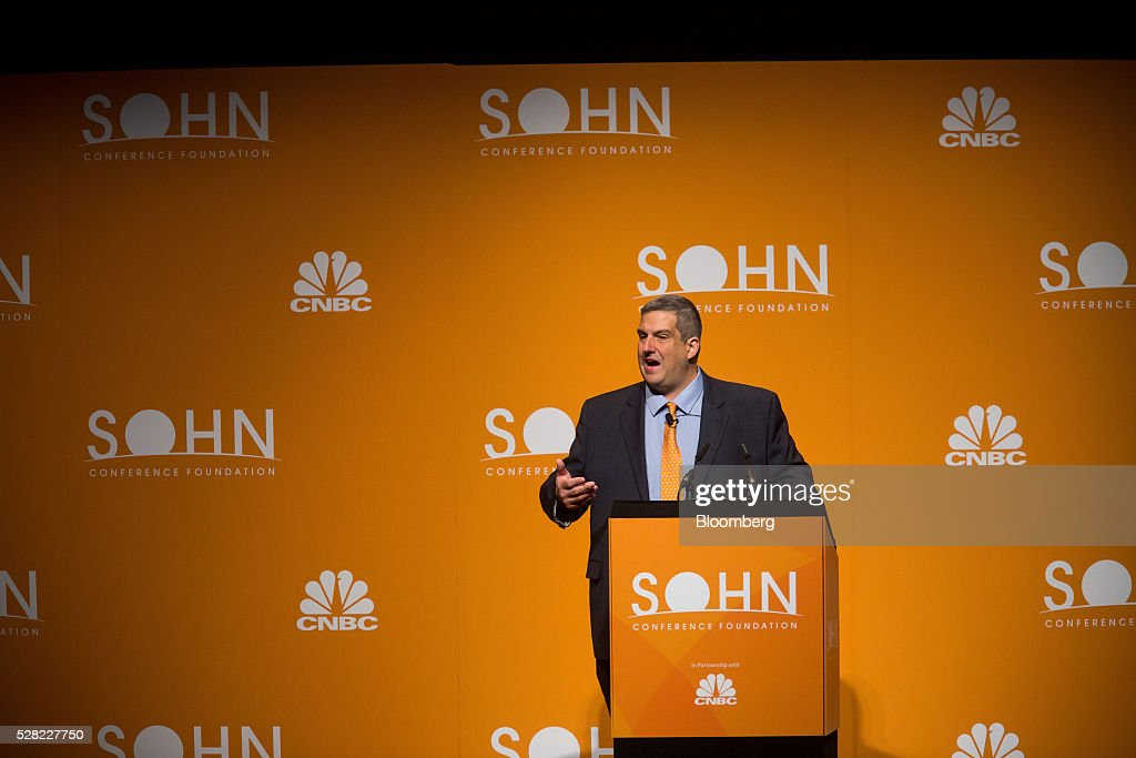Larry Robbins, founder, portfolio manager and chief executive officer of Glenview Capital Management LLC, speaks during the 21st annual Sohn Investment Conference in New York, U.S., on Wednesday, May 4, 2015. Since 1996 the Sohn Investment Conference has brought together the world's savviest investors to share fresh insights and strategies in support of pediatric cancer research and treatment. Photographer: Michael Nagle/Bloomberg via Getty Images