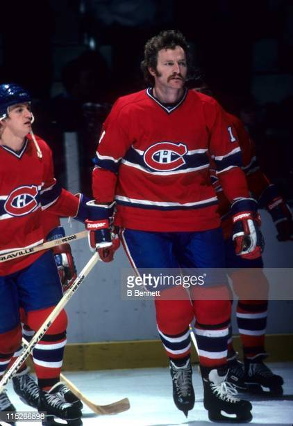 Larry Robinson of the Montreal Canadiens skates on the ice during warmups before an NHL game in March 1979