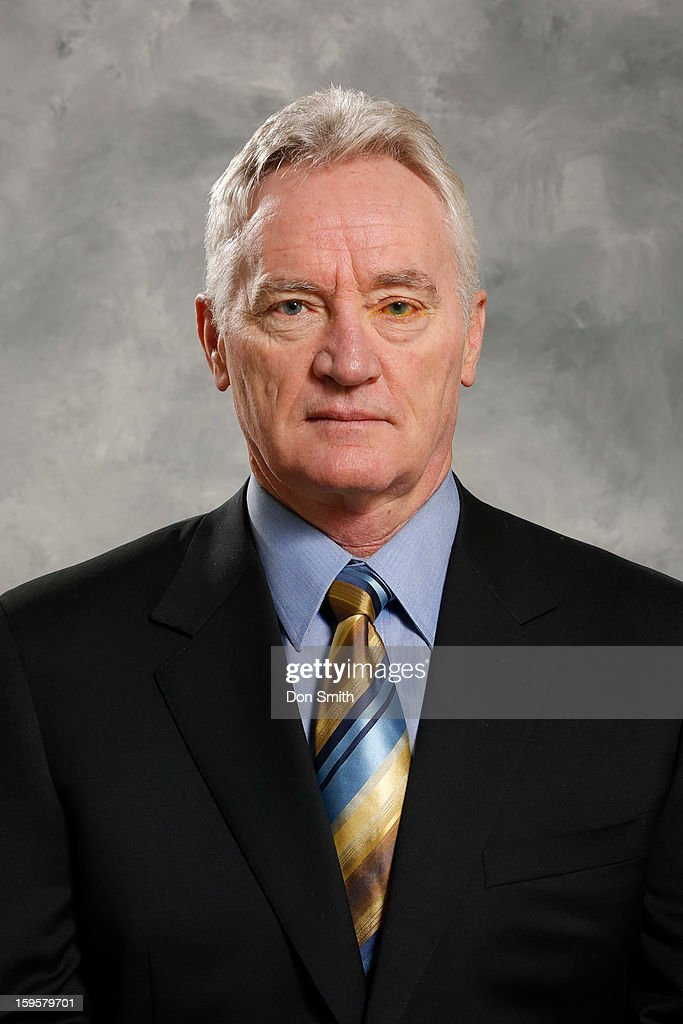 Larry Robinson of the San Jose Sharks poses for his official headshot for the 2012-13 season on January 13, 2013 at Sharks Ice in San Jose, California.