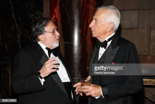 Larry Schiller and Gay Talese attend The First Annual NORMAN MAILER Writers Colony Benefit Gala at Cipriani 42nd Street on October 20 2009 in New...