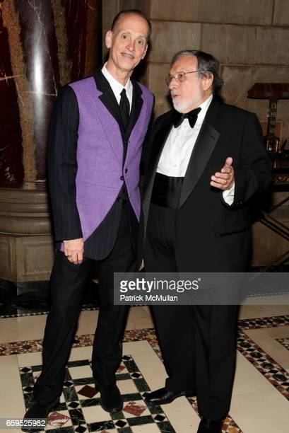 Larry Schiller and John Waters attend The First Annual NORMAN MAILER Writers Colony Benefit Gala at Cipriani 42nd Street on October 20 2009 in New...