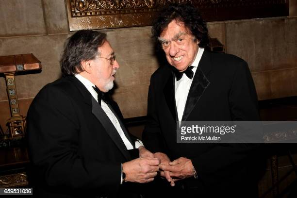 Larry Schiller and Richard Goodwin attend The First Annual NORMAN MAILER Writers Colony Benefit Gala at Cipriani 42nd Street on October 20 2009 in...
