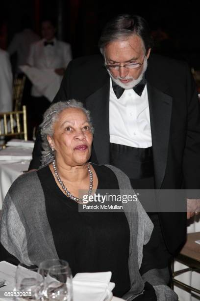 Larry Schiller and Toni Morrison attend The First Annual NORMAN MAILER Writers Colony Benefit Gala at Cipriani 42nd Street on October 20 2009 in New...