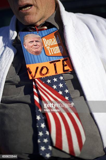 Larry Shaak portrays 'Trump Man' near the site of a rally for Republican Presidential nominee Donald J Trump November 4 2016 in Hershey Pennsylvania...