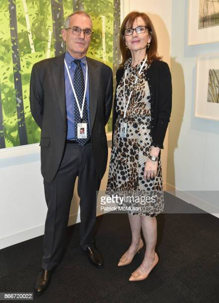 Larry Shopmaker and Besty Senor attend the IFPDA Fine Art Print Fair Opening Preview at The Jacob K Javits Convention Center on October 25 2017 in...