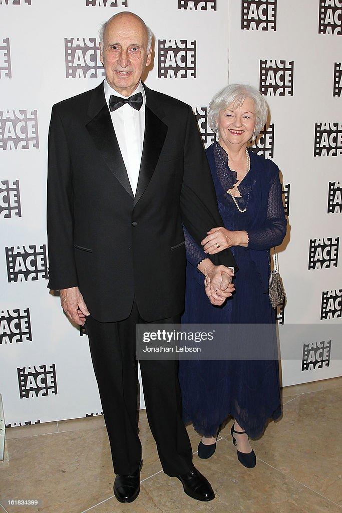 Larry Silk (L) and wife attends the 63rd Annual ACE Eddie Awards at The Beverly Hilton Hotel on February 16, 2013 in Beverly Hills, California.