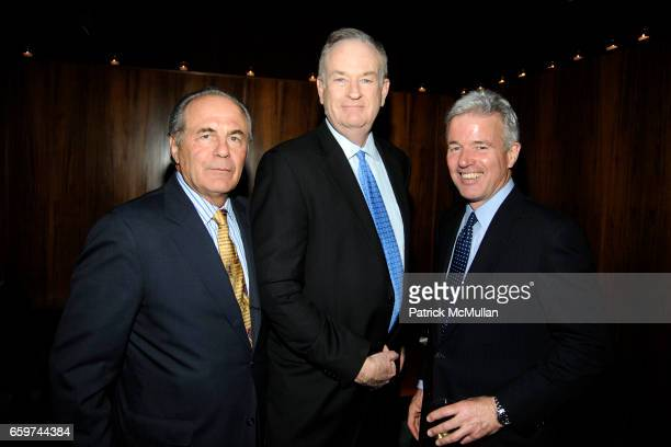Larry Smith Bill O'Reilly and Fred Johnson attend PARADE MAGAZINE and SI Newhouse Jr honor Walter Anderson at The 4 Seasons Grill Room on March 31...