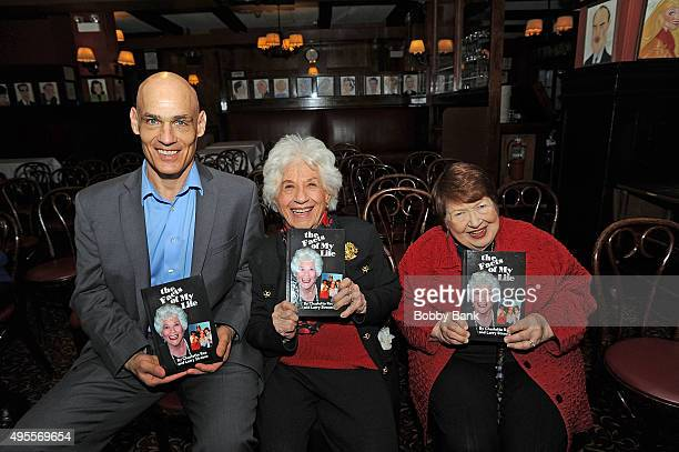 Larry Strauss Charlotte Rae and sister Mimi Guten attend the Charlotte Rae book signing for 'The Facts of My Life' at Sardi's on November 3 2015 in...