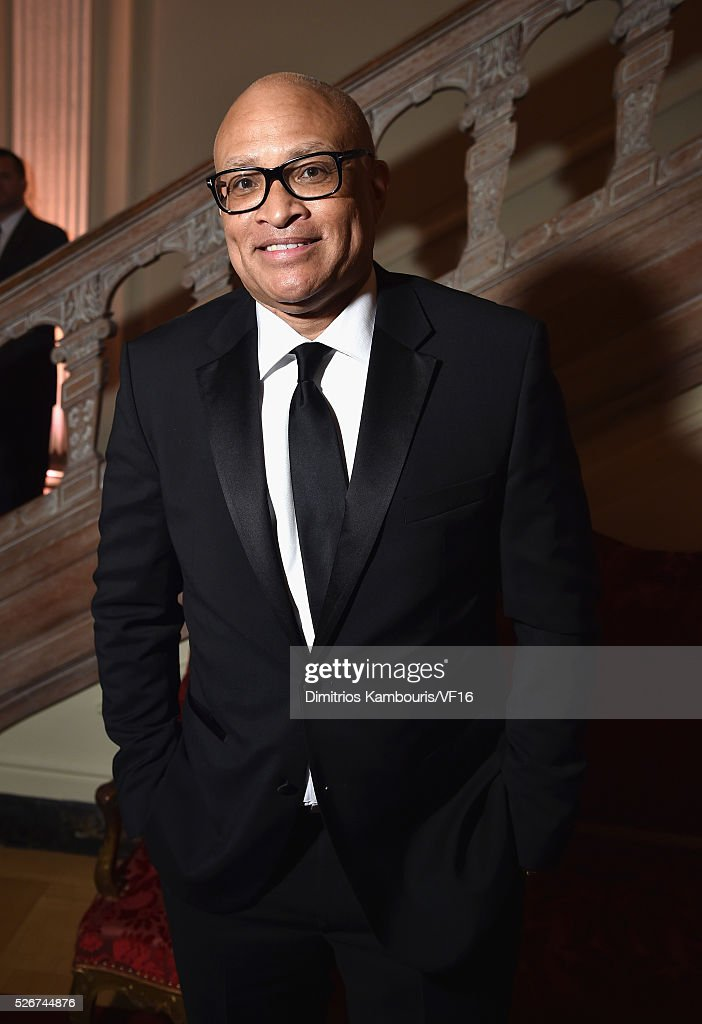 Larry Wilmore attends the Bloomberg & Vanity Fair cocktail reception following the 2015 WHCA Dinner at the residence of the French Ambassador on April 30, 2016 in Washington, DC.