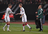 Lars Bender of Germany comes on as a substitute for Toni Kroos of Germany during the EURO 2016 Group D Qualifier match between Germany and Gibraltar...