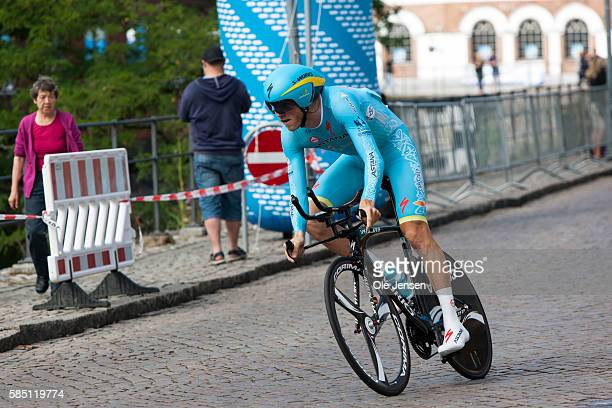 Lars Boom from Holland riding for team Astana during his Time Trial race in the PostNord Tour of Denmark in Nyborg Denmark on July 30 2016
