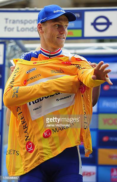 Lars Boom of Team Rabobank is the overall winner of the Tour of Britain in London on September 18 2011 in London England