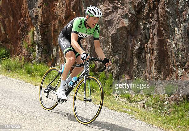 Lars Boom of the Nederlands and Team Belkin Pro Cycling descends the Col de Sarenne during stage eighteen of the 2013 Tour de France a 1725KM road...