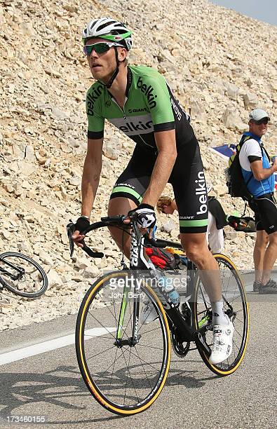 Lars Boom of the Nederlands and Team Belkin Pro Cycling in action during stage fifteen of the 2013 Tour de France a 2425KM road stage from Givors to...
