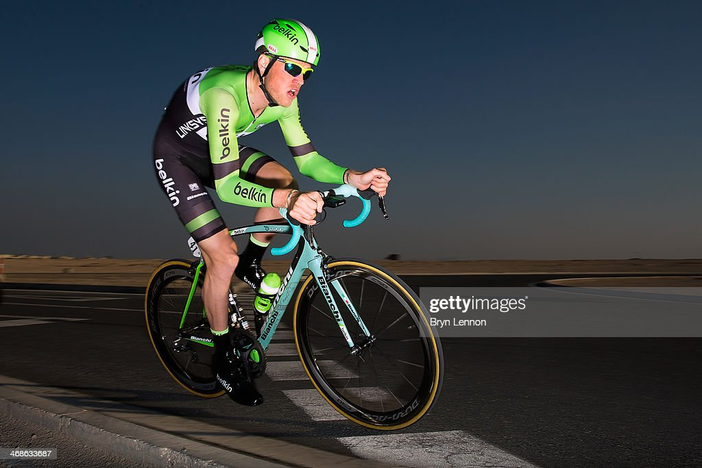 <a gi-track='captionPersonalityLinkClicked' href=/galleries/search?phrase=Lars+Boom&family=editorial&specificpeople=2696194 ng-click='$event.stopPropagation()'>Lars Boom</a> of the Netherlands and Belkin Pro Cycling in action during stage three of the Tour of Qatar, a 10.9km individual time trial at the Lusail Circuit on February 11, 2014 in Doha, Qatar.