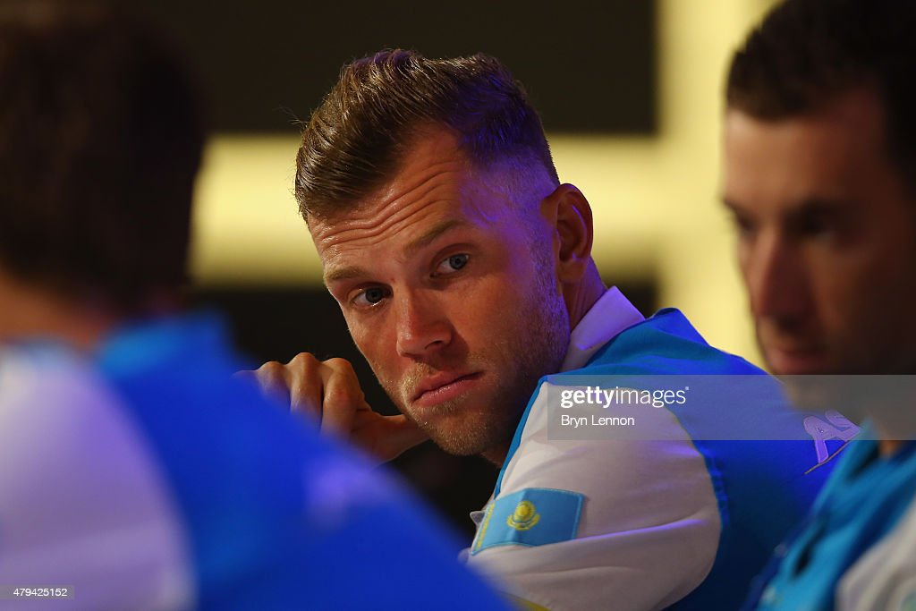 <a gi-track='captionPersonalityLinkClicked' href=/galleries/search?phrase=Lars+Boom&family=editorial&specificpeople=2696194 ng-click='$event.stopPropagation()'>Lars Boom</a> of the Netherlands and the Astana Pro Team talks to the media during a press conference ahead of the 2015 Tour de France, on July 3, 2015 in Utrecht, Netherlands.