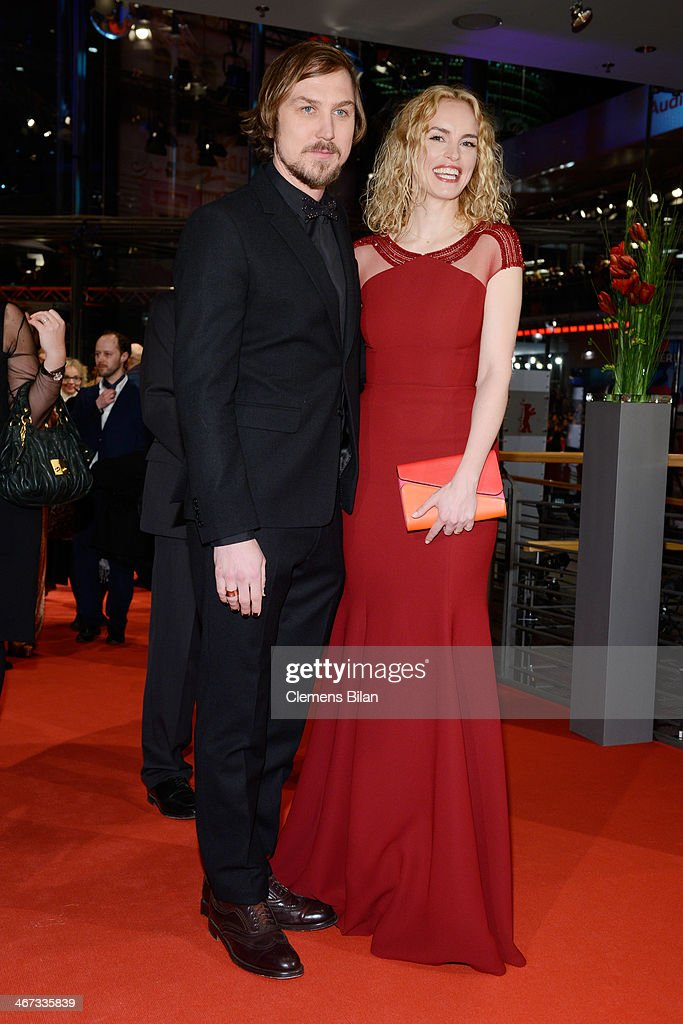 Lars Eidinger and Nina Hoss attend 'The Grand Budapest Hotel' Premiere and opening ceremony during the 64th Berlinale International Film Festival at Berlinale Palast on February 6, 2014 in Berlin, Germany.