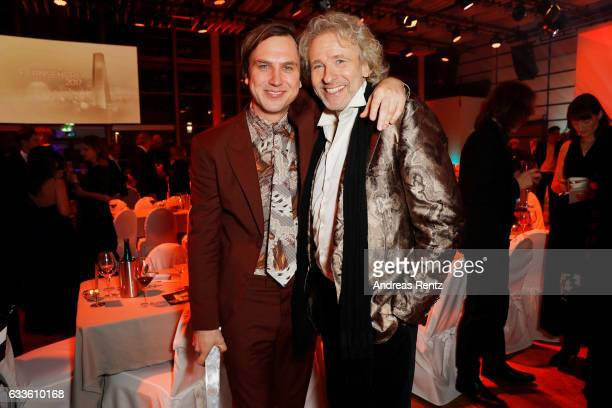 Lars Eidinger and Thomas Gottschalk attend the German Television Award at Rheinterrasse on February 2 2017 in Duesseldorf Germany