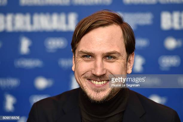 Lars Eidinger attends the International Jury press conference during the 66th Berlinale International Film Festival Berlin at Grand Hyatt Hotel on...