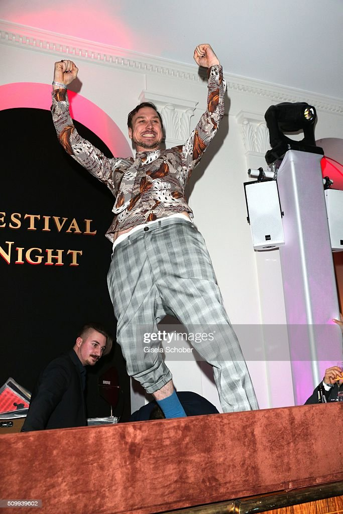 <a gi-track='captionPersonalityLinkClicked' href=/galleries/search?phrase=Lars+Eidinger&family=editorial&specificpeople=2984804 ng-click='$event.stopPropagation()'>Lars Eidinger</a> during the Bunte and BMW Festival Night 2016 during the 66th Berlinale International Film Festival Berlin on February 12, 2016 in Berlin, Germany.