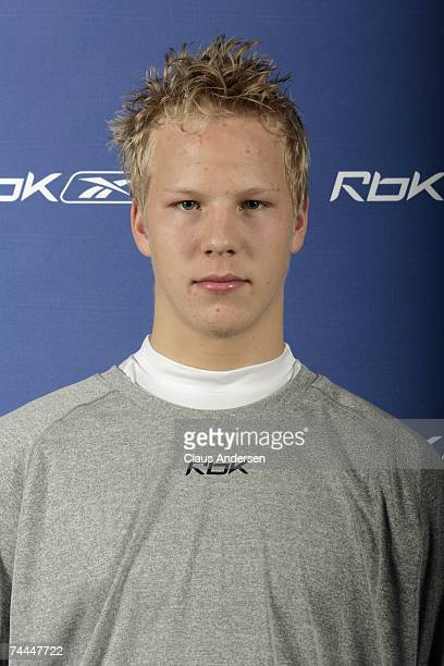 Lars Eller poses for a portrait during the 2007 NHL Combine on June 1 2007 at the Park Plaza Hotel in Toronto Canada